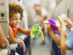Traveling with children by plane